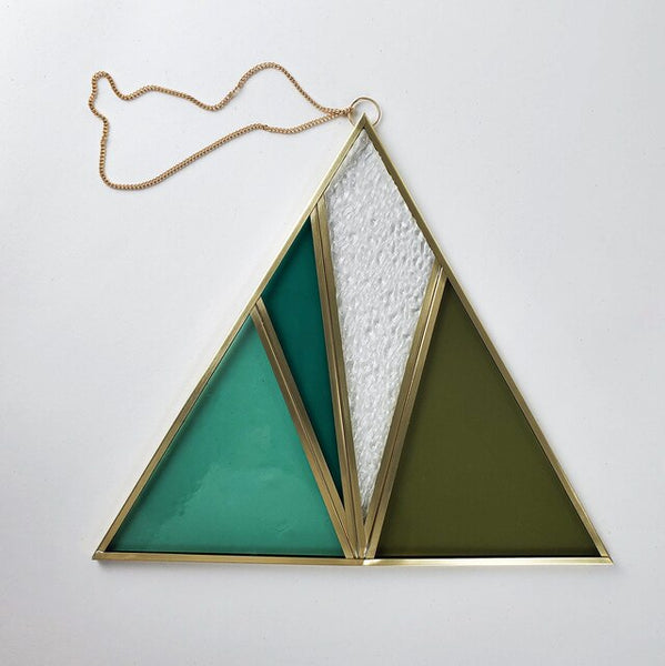 Moxie Bloom Stained Glass Triangle (no.2)