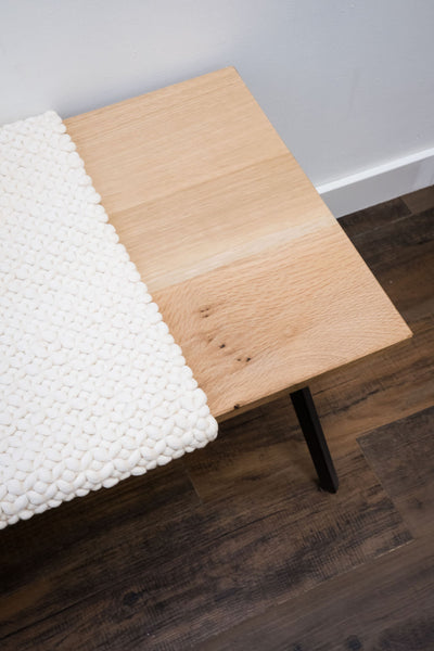 TIMBER & TULIP/ kristen KASS Wood and Handwoven Bench