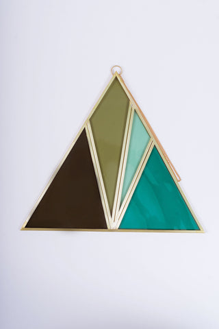 Moxie Bloom Stained Glass Triangle (no. 3)