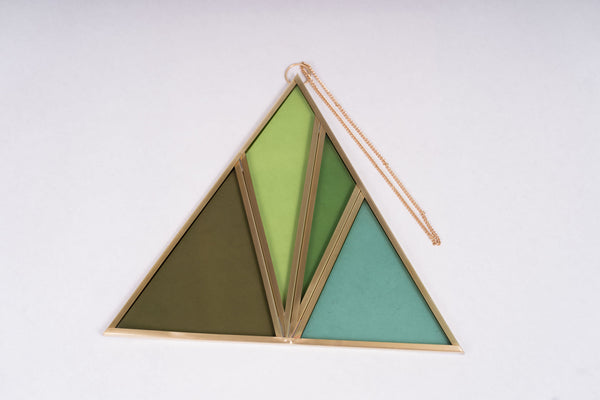 Moxie Bloom Stained Glass Triangle (no. 1)