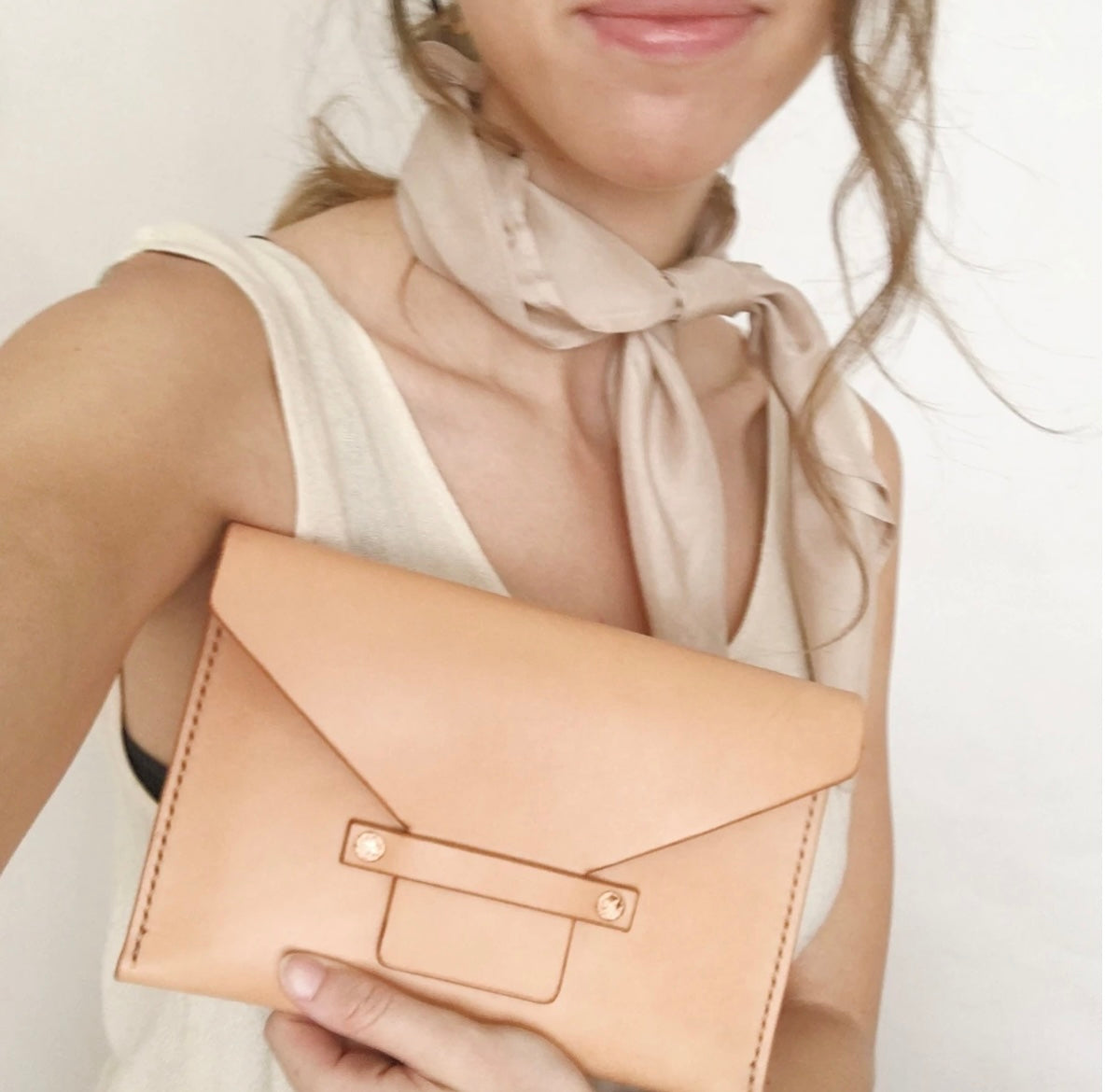 House of Verna Leather Clutch