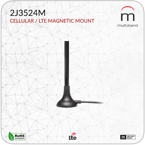 2J3524M CELLULAR / LTE MAGNETIC MOUNT - www.multiband-antennas.com