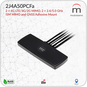 2J4A50PCFa LTE MIMO ISM GNSS Adhesive Mount - www.multiband-antennas.com
