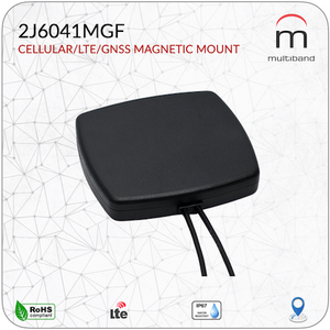 2J6041MGF CELLULAR/LTE/GNSS Mag Mount - www.multiband-antennas.com