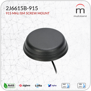 2J6615B-915 915 MHz ISM Screw Mount - www.multiband-antennas.com
