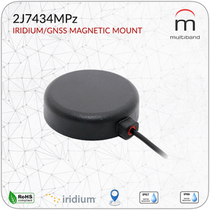 2J7434MPz GNSS and Iridium Mag Mount - www.multiband-antennas.com