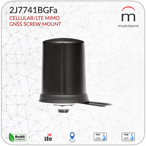 2J7741BGFa CELLULAR/LTE MIMO and GNSS SCREW MOUNT - www.multiband-antennas.com