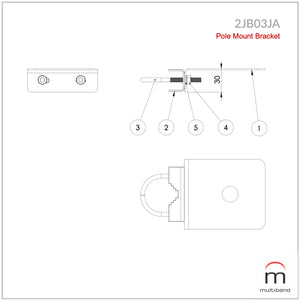 2JB03JA - Pole Mount Bracket - www.multiband-antennas.com