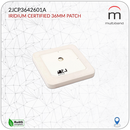 2JCP3642601A Iridium Ceramic Patch 36mm - www.multiband-antennas.com