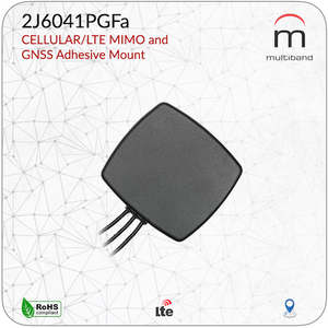 2J6041PGFa CELLULAR/LTE MIMO and GNSS Adhesive Mount - www.multiband-antennas.com