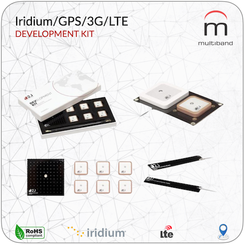Iridium/GPS/3G/LTE Development Kit - www.multiband-antennas.com