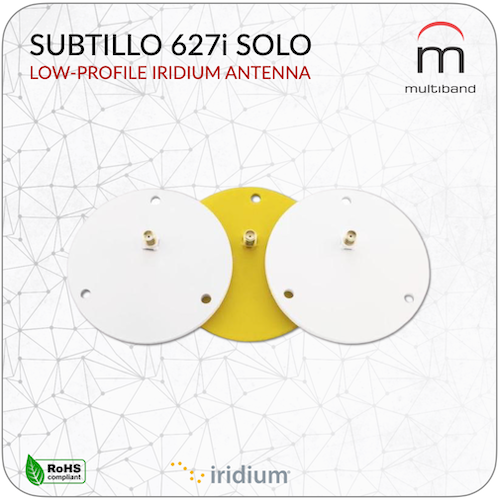 Subtillo 627i Solo Low Profile Iridium - www.multiband-antennas.com