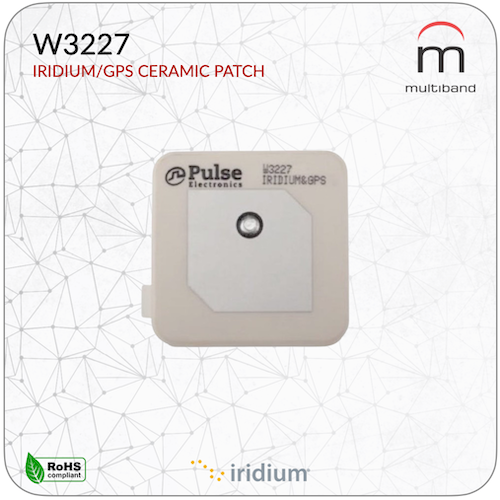 W3227 Iridium/GPS Patch Antenna (10 Pcs) - www.multiband-antennas.com