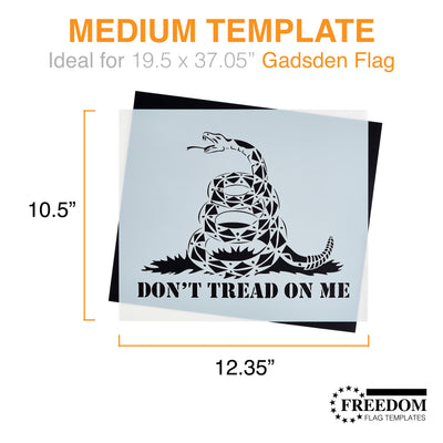 GADSDEN Flag Template, Don't Tread On Me stencil template