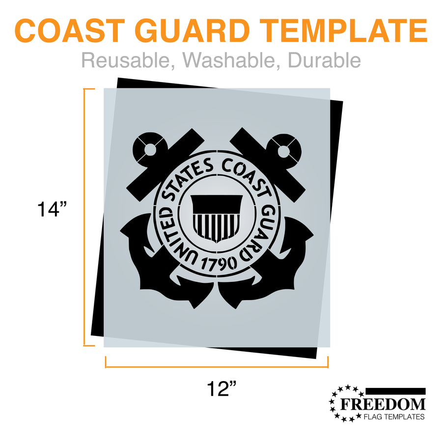 U.S. COAST GUARD Stencil | USCG Military Template