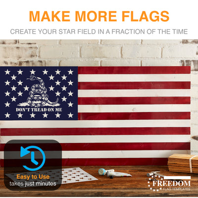 Gadsden Flag star field stencil template ideal for creating Flag on wood, walls, canvas, fabrics, Military stencil, don't tread on me stencil templatee