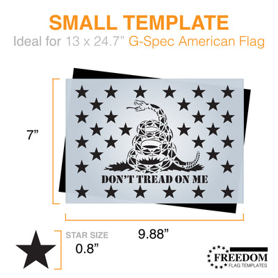 Don't tread on me Gadsden Flag star field stencil template ideal for creating Flag on wood, walls, canvas, fabrics, Military stencil