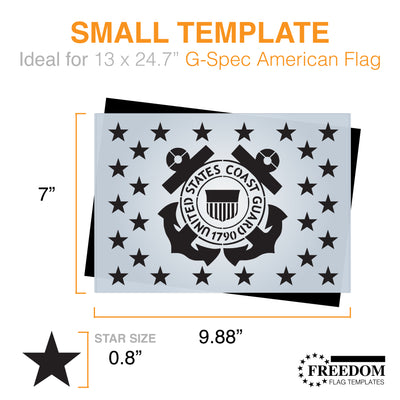U.S. Coast Guard Star-field stencil, G-SPEC Flag Template, USCG star field stencil template ideal for creating Flag on wood, walls, canvas, fabrics, Military stencil template