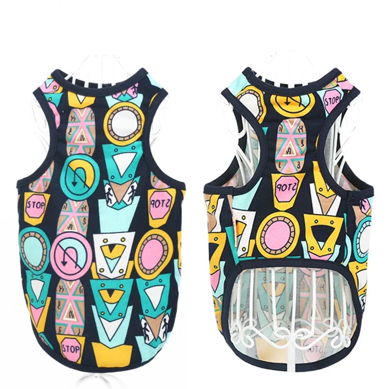 Colorful Stitching Vest/Shirt