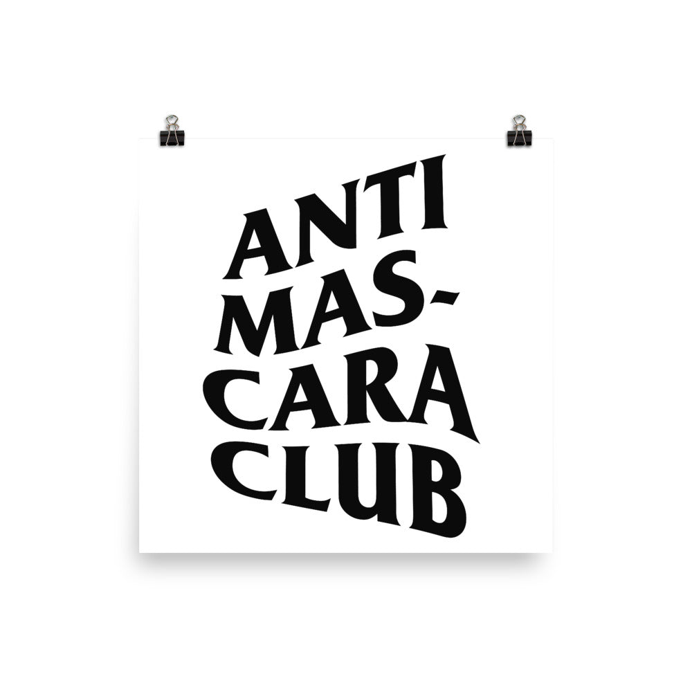Anti Mascara Club Poster
