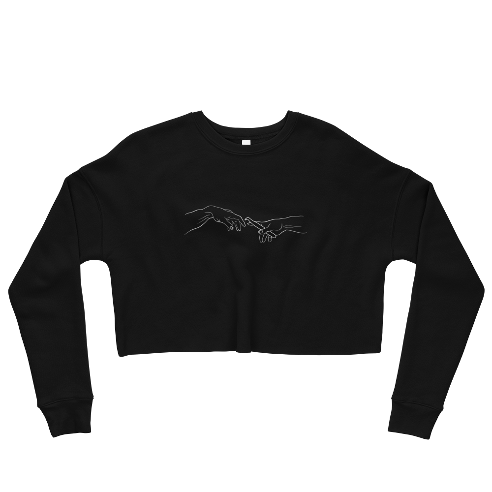The Creation Of Lashes Crop Sweatshirt