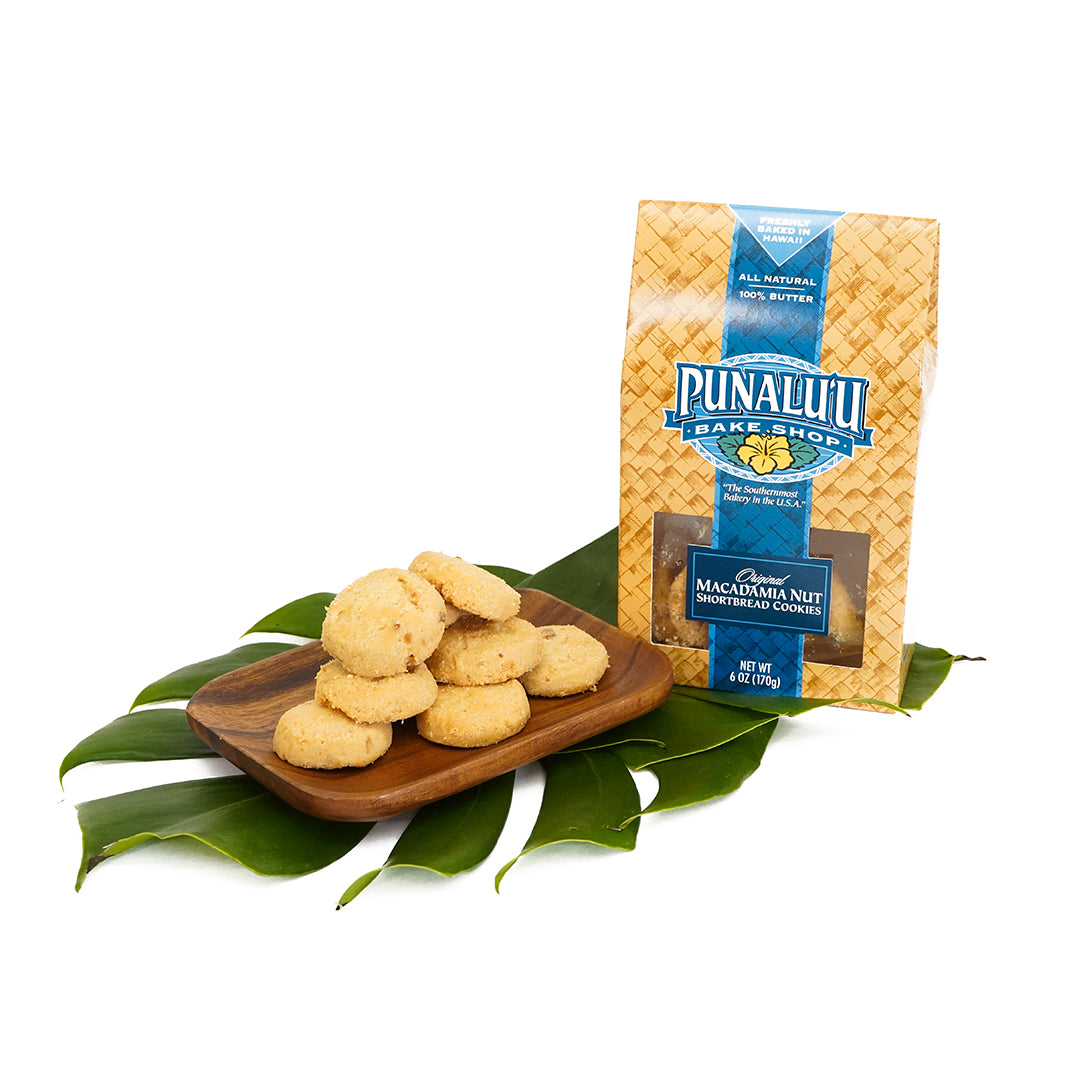 Punaluʻu Macadamia Nut Shortbread Cookies - Box 5