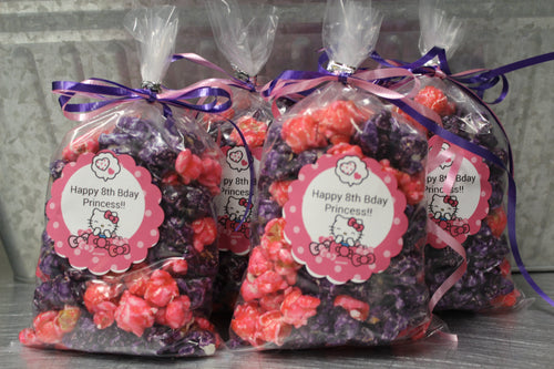 Girl's Birthday Popcorn Favors