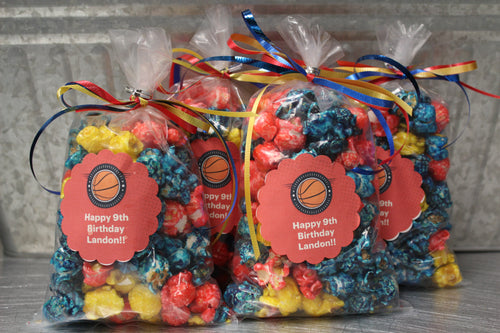 Boy's Birthday Popcorn Favors
