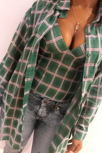 2 piece plaid set