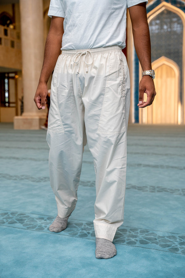 Mens Ikaf Pants - Cream
