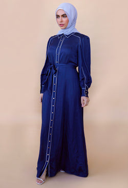 Collared Dress - Navy