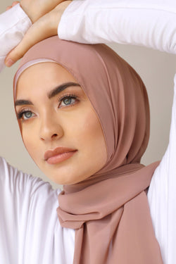 Chiffon Rectangle Hijab - 77 Nude