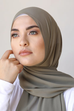 Chiffon Rectangle Hijab - 4 Khaki