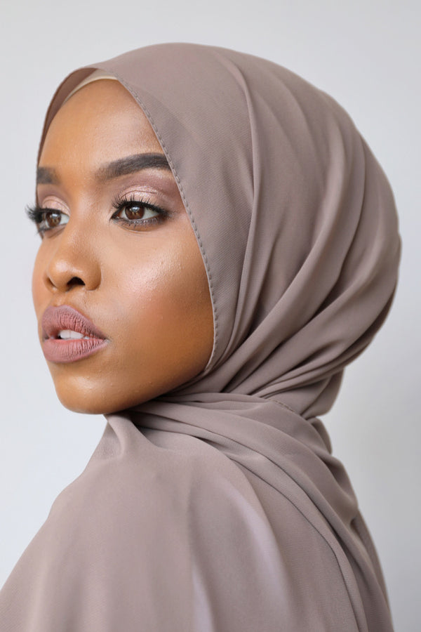 Chiffon Rectangle Hijab - 47 Mocha
