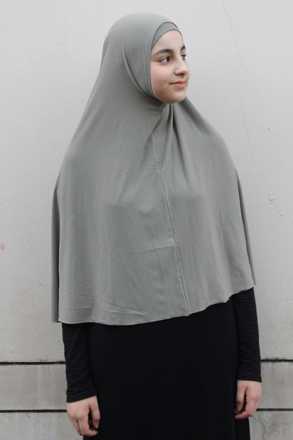 Girls Large Jilbab - 10 Khaki