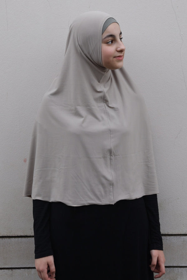 Girls Large Jilbab - 18 Oatmeal