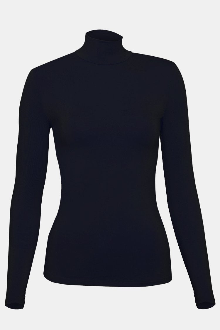 BNAH026-High Neck Body Top-52_Navy