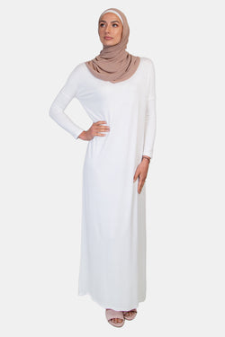 BNAH035-Cotton Batwing Dress-2_Off White