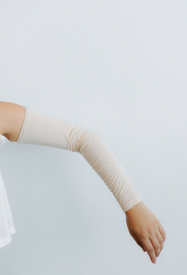 Womens Arm Sleeves - Nude