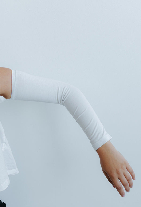 Womens Arm Sleeves - White