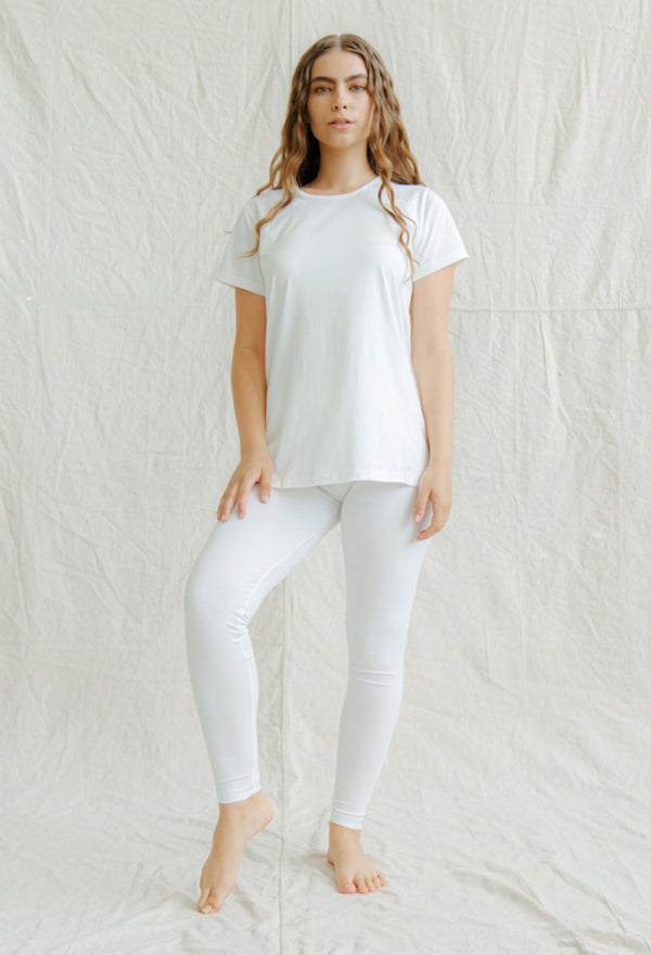 Bamboo Sleeveless Top - White