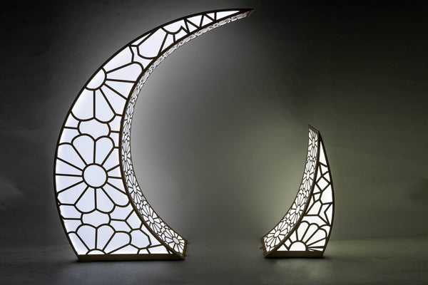 3D Cut Out Light Up Moon