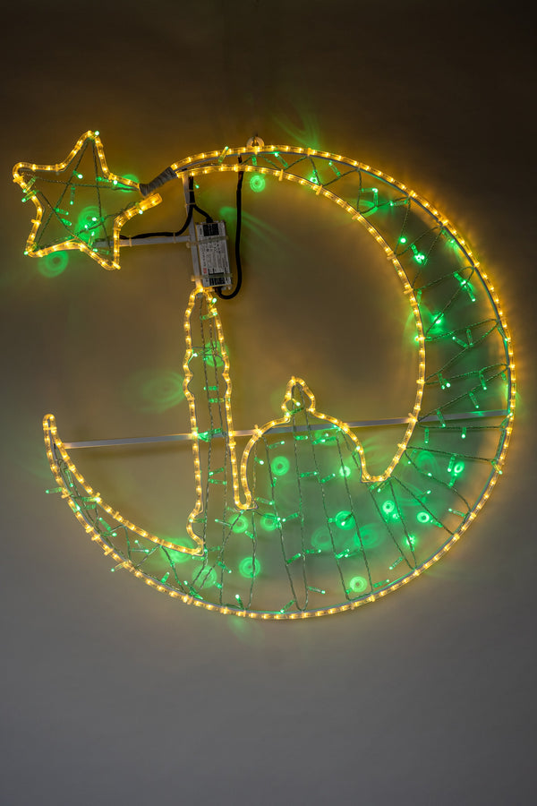 Moon & Mosque 1mtr Light - Green