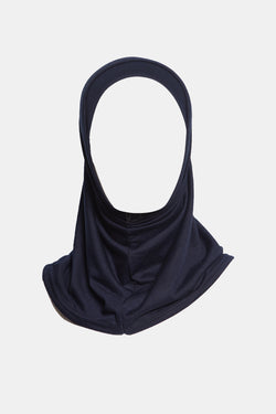 GI2PH-Girls 2pc Cotton Hijab 18-4-4S_Navy
