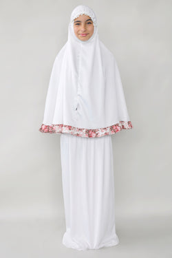 Girls 2pc Elegant Prayer Clothes - Broken White
