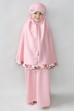 Girls 2pc Elegant Prayer Clothes - Pink