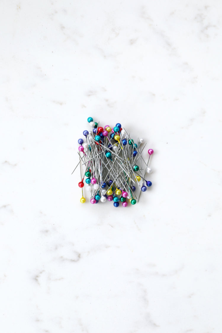Round Headed Pins - Coloured