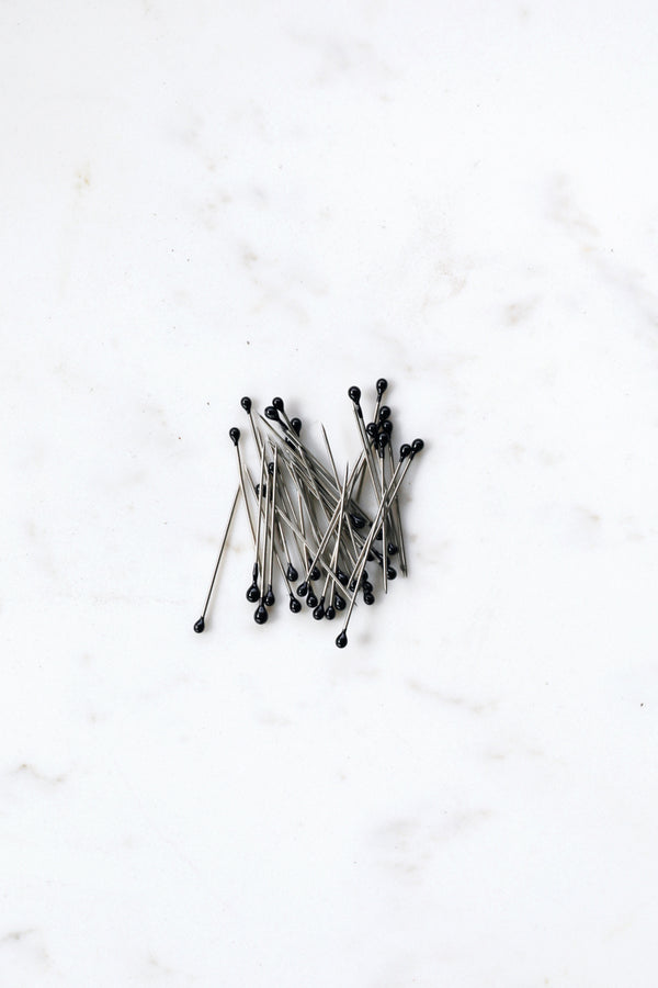 Small Headed Pins - Black
