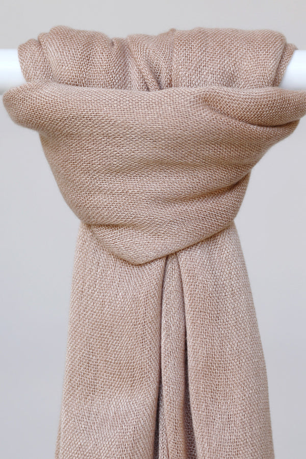 WOPCS - Womens Plain Cotton Shawls - 44 Nude