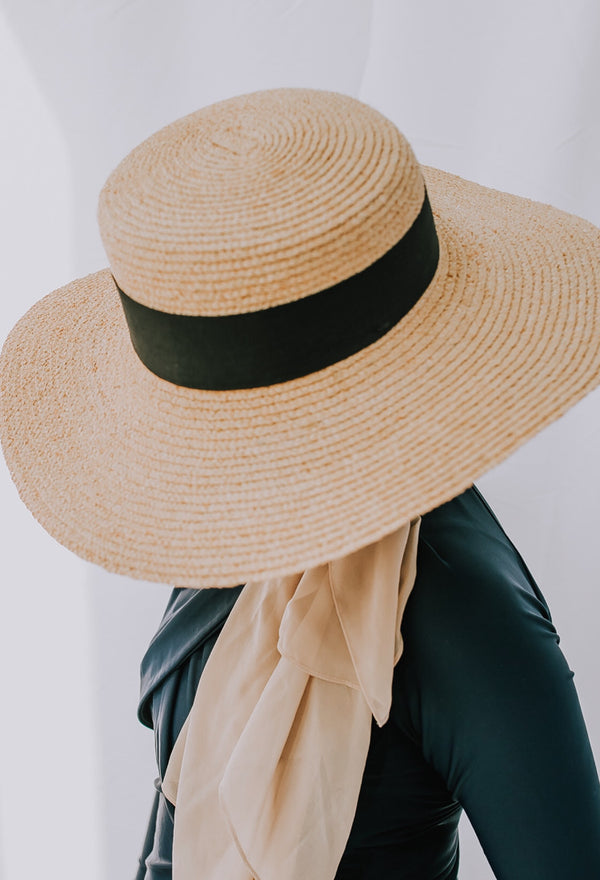Jamela Boater Hat - Raffia Floppy